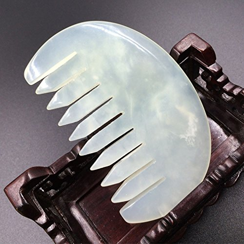 CHENXI Shop Jade abkratzen von Gua Sha Massage Werkzeug kujaw/Gua Sha Kamm für graston Spa Akupunktur Therapie Trigger Point Behandlung auf Gesicht Arm Fuß 1Stück (Jade-kamm)