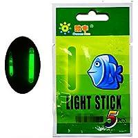 chengyida 250- unidades 4,5* 37mm verde luz nocturna de pesca flotador Stick LED fluorescente Lightstick flotador Rod Luces oscuro Glow Stick pesca Tackle