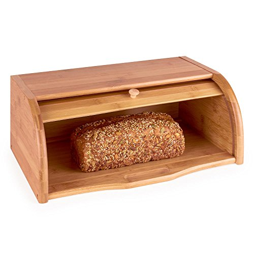Klarstein Basket No. 3 • Brotkasten • Brotbox • Bambus • rollbarer Deckel • 11,5 Liter • leichte Befüllung • Holzgriff • hohe Stabilität • große Innenfläche • leicht zu reinigen • lange Lebensdauer • einfacher Zugriff • sichere Verwahrung von Backware • braun