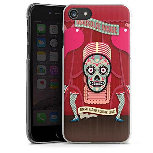 Apple iPhone X Silikon Hülle Case Schutzhülle Totenkopf Knochen Pinup Hard Case transparent