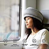 OSTRICHPILLOW LIGHT Cuscino da viaggio per aero, auto, ufficio, supporto per il collo per volare, cuscino per pisolini. Accessorio da viaggio per uomo e donna –Colore Blu - Sleepy Blue