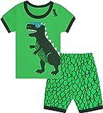 Qtake Fashion Pigiama per bambini da 1 a 12 anni, motivo: dinosauro, al 100% in cotone