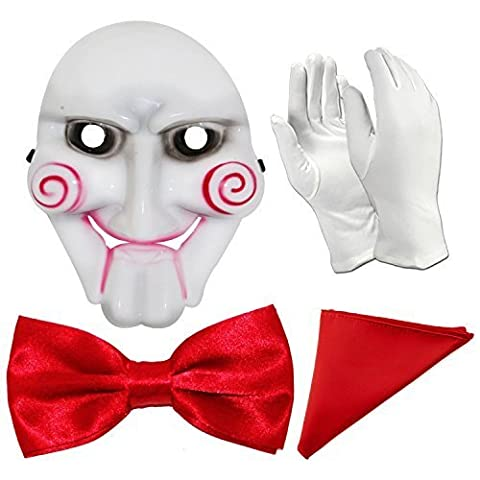 Saw Movie Jigsaw Puppet Halloween Costume Accessories Set