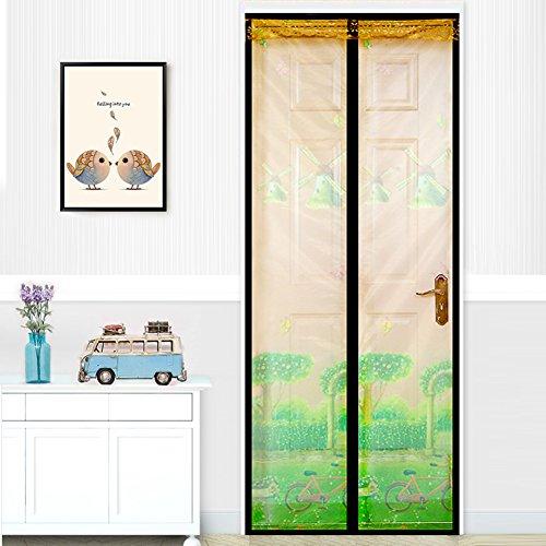 kele Verschlüsselte stumm Mesh vorhänge im Sommer, Moskito Magnetische Schlafzimmer Küche Weiches Garn Scuttle Vorhang Lachs Fensterbildschirm-A 80x210cm(31x83inch) (210 Lachs)