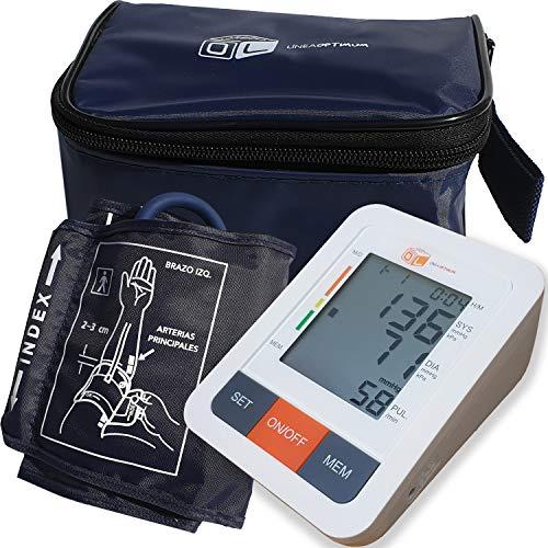 Tensiómetro de Brazo Digital Funda Incluida - Medicion Automatica Memoria de 90 Mediciones - Alta Tecnología para dar Lecturas de Presión Arterial Rápidas, Cómodas y Precisas.