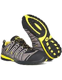 Paredes sp5027Gr46helio–Zapatos de seguridad S1P talla 46GRIS/NEGRO/AMARILLO