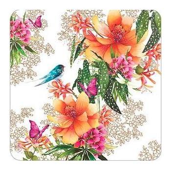 Beautiful Owl Greeting Card Flittered Finish - Blank//Birthday Pizazz Limited Edition Range NQ4881
