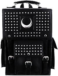 8f2fc92ef5b19 Restyle Gothic Kunstleder Eisen Mond Rucksack Nieten Halbmond Wicca Punk  Tasche
