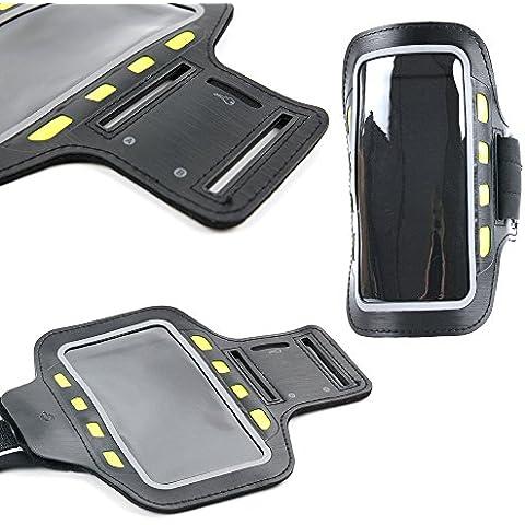 Brazalete deportivo para Smartphone Lenovo K4 Note / Vibe S1 Lite / K5 Note / Moto G4 / G4 Plus / G4 Play - reflectante con luces led de alta visibilidad - DURAGADGET