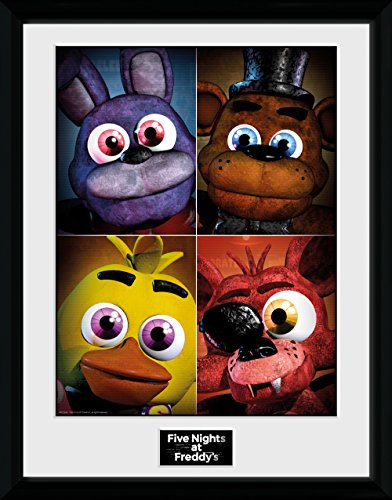 "GB eye ""Five Nights At Freddys, Quad"" Framed Print, Multi-Colour, 30 x 40 cm"