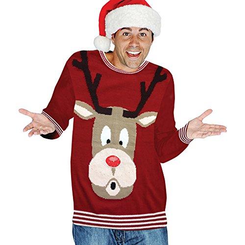 Ugly Rudolph-Costume natalizio lavorato a maglia da adulto, colori assortiti