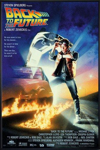 Close Up Zurück in die Zukunft Poster Michael J. Fox (93x62 cm) gerahmt in: Rahmen schwarz