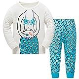 Baby-Pyjama-Baumwollkleinkind-Jungen-Kind-Meerjungfrau-Nachtwäsche-Nachtwäsche-Pyjamas gesetztes 4 Jahre