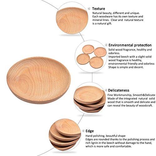 Lembeauty Holz Tablett, Holz-Snack-Teller Pizza, Kuchen,