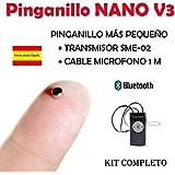 Pinganillo Nano V3 Bluetooth KIT COMPLETO