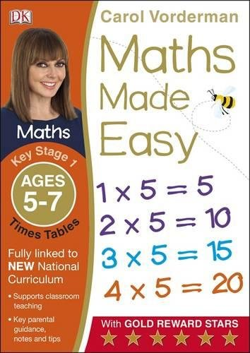 Maths Made Easy Times Tables. Ages 5-7 Key Stage 1 (Made Easy Workbooks) di Carol Vorderman