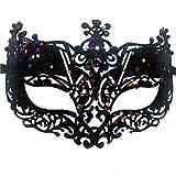 RXBC2011 Máscara de Encaje Gran Forma de Pavo Real Mujeres Antifaz para Mascarada Veneciano Carnaval Halloween