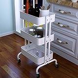Home Shelves CYJZ® Scaffale, cucina Carrelli portaoggetti mobile mobile stanza da bagno stanza da bagno cucina studente dormitorio Capacità di cuscinetto forte