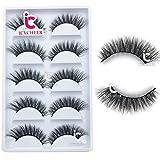 ICYCHEER 100% Mink Fur 3D False Eyelash Luxurious Natural Messy Daily Fake Eye Lashes Makeup Eyelashes 5 Pairs/Box ...