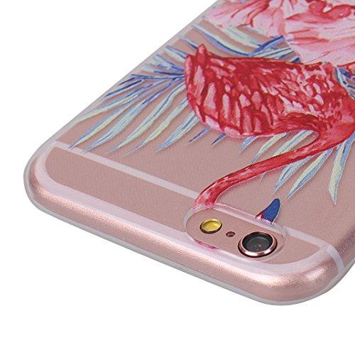 iPhone 6 Cover Natale, iPhone 6 Custodia, iPhone 6S Soft Case, Moon mood® Morbido Christams Cover Trasparente e Modello Cassa Crystal Clear Chiaro Custodia Silicone Gel Gomma TPU Bumper Shell Skin Fle 2pz-1