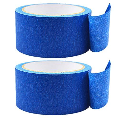 Limeo Blau Maler Klebeband Klebeband 3D Drucker Klebeband Klebeband 3D Drucker blaues Klebeband Blaue Hochtemperatur-Papier Malerband Band Kreppband Papier-Masking Tape für 3D Drucker