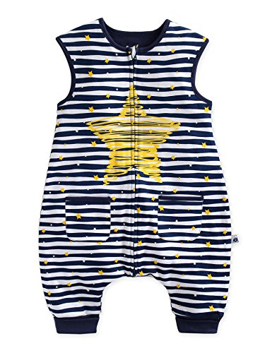 Vaenait Baby 80-110 Kleinkinder Jungen 100% Baumwolle fuer Sommer Schlafsaecke Decke Bling Blue Sleep M