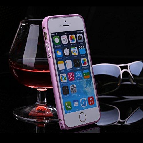 iPhone SE 5SE 5 5S Frame Caso FindaGift Difficile Metallo Hippocampal Buckle Fibbia Bumper Frame Case Peso Leggero Confortevole Sentire Protettivo Lnfrangibile Anti-urto Antigraffio Custodia Telefonic Rose
