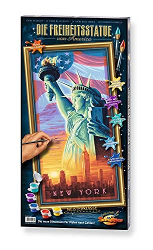 Schipper 609220496 609220496-Malen nach Zahlen-Freiheitstatue, 40x80 cm, Mehrfarbig