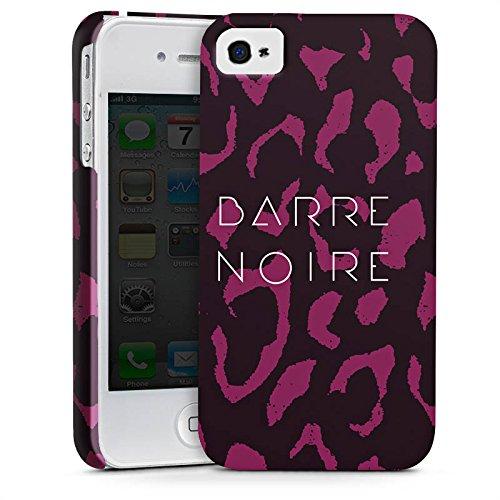Apple iPhone X Silikon Hülle Case Schutzhülle BARRE NOIRE Fashion Leopard Premium Case glänzend
