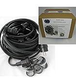 IKu ® GmbH Illu Lichterkette 10 M - 10 Fassungen Fertig montierte Lichterkette E 27 - Schwarzes Kabel - Handfertigung