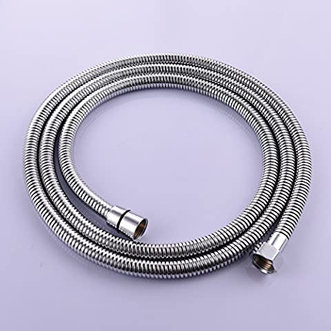 CIENCIA 3m(118-Inch)Anti-kink Flexible Shower Hose Stainless Steel Polished Chrome
