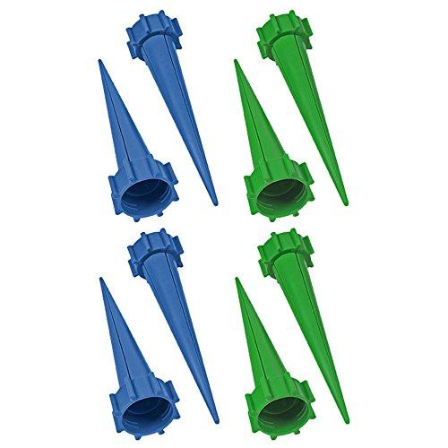 Smartfox 2X 4er Pack Pflanzen Bewässerungssystem Bewässerungshilfe Spikes Wasserspender für Flaschen