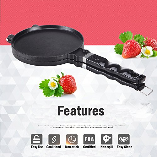 51xmUH6xeiL. SS500  - TAMUME Ice Cream Waffle Cone Maker Ice Cream Cone Pan Crêpe Maker Crispy Omelette Pan for Omelette Mould and Ice Cream…