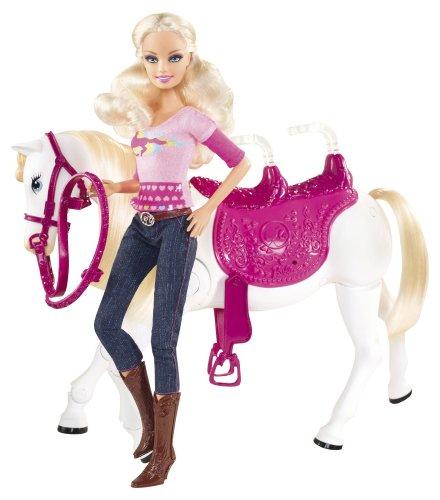 Barbie Mattel - V6984 - Poupées mannequins et Son Cheval Trotteur