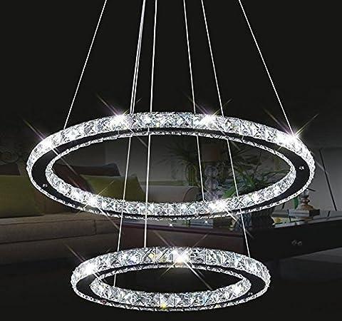 Tenlion Crystal Chandelier Padent Lamp Celling Light 40cm*60cm Neutral White