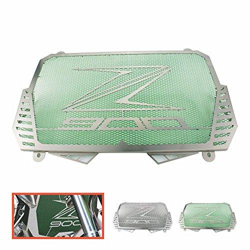 Heinmo - Protector de Parrilla para radiador de Motocicleta CNC de Aluminio, Compatible con radiadores Kawasaki Z900 2017, Unisex Adulto, Verde
