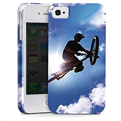 Apple iPhone X Silikon Hülle Case Schutzhülle Mountainbike Fahrrad Sport Premium Case glänzend