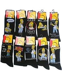 Homer Simpson Lot de 6chaussettes pour homme Taille 6–11Euro 39–45