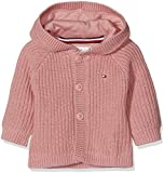 Tommy Hilfiger Unisex Kapuzenpullover Baby Textured Hooded Cardigan, Rosa (Blush 610), 68
