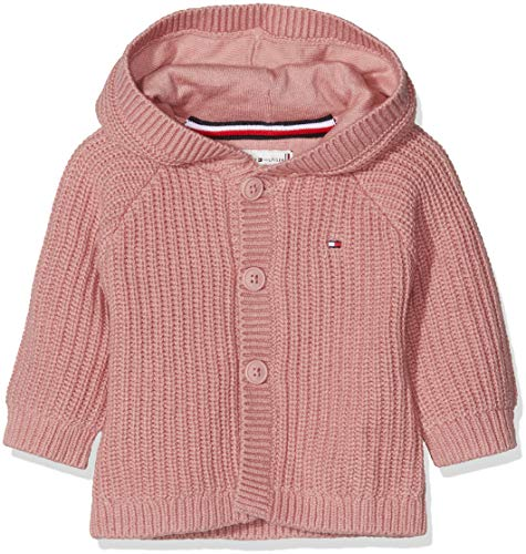 Tommy Hilfiger Unisex Kapuzenpullover Baby Textured Hooded Cardigan Rosa (Blush 610) 68
