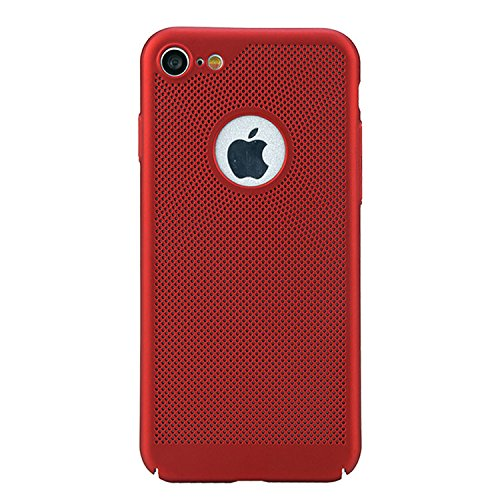Hülle Für iPhone 6S [Non-Slip], Vandot [Wärmeableitung] Premium Bumper Fall mit breathable Air-Mesh Schock Absorption Drop Protection Case Hybrid Snap-on Starr PC Hard Back Cover Case für iPhone 6S Ha Rot