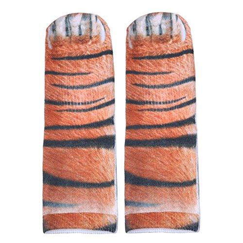 Lalang 1 Paar 3D Simulation Tier Pfote Print Socken, Unisex Interessant Socken (Tiger Krallen) - Pfoten Und Krallen
