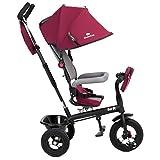 Kinderkraft Swift 6in1 Dreirad für Kinder mit Zubehör in 2 Farben Rot