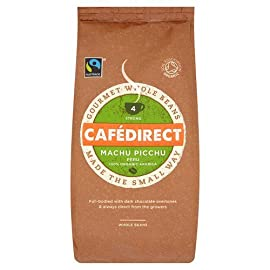 Cafedirect Fairtrade Organic Machu Picchu Beans Coffee, 227 g