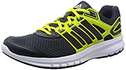 adidas Men's Duramo 6 Running Shoes, Black (Dark Gray / Core Black / Semi Solar Yellow), 42 EU