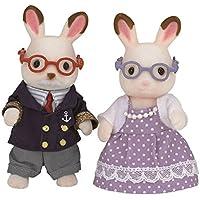 Sylvanian Families Chocolate Rabbit Grandparents Mini muñecas y Accesorios, (Epoch 5190)