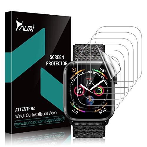 TAURI 6 Stücke Schutzfolie für Apple Watch 42mm, iwatch 42 mm Displayschutz, [Klar HD][Blasenfreie][Lebenslange Ersatzgarantie] Weich TPU Folie Displayschutzfolie