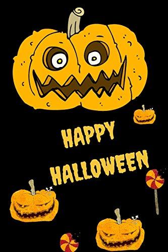 Happy Halloween: Halloween Pumpkin Cartoon Themed Notebook (Halloween Cartoon Happy)