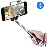 Selfie Stick, ToHayie Extendable Bluetooth Selfie Stick with Built-in Remote Shutter, LED Brightening Light and Mirror