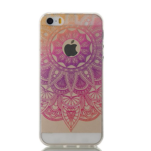 iPhone 5 Transparent Case - Felfy Ultra mince Slim Cool Funny Quotes You Make my heart Smile motif Style Gel Souple Soft Flexible TPU Silicone Coque Etui Protective Housse Bumper Cas Cover Couverture  Tournesol Violet Rouge